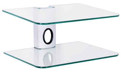 Clear Glass 2 Shelf DVD Bracket