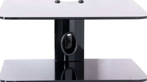 Black Glass 2 Shelf DVD Bracket
