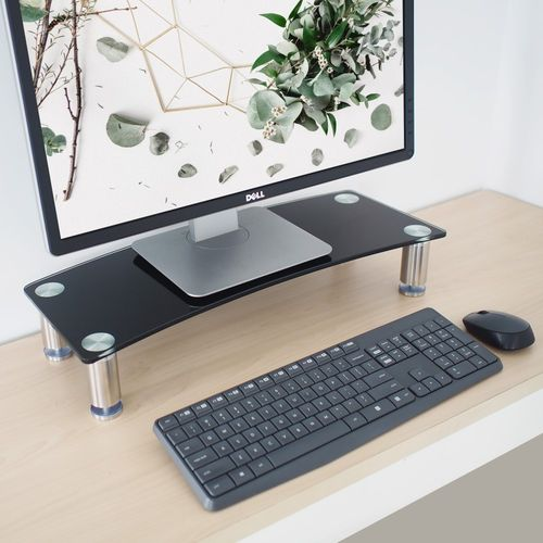 Monitor Riser Adjustable-Black