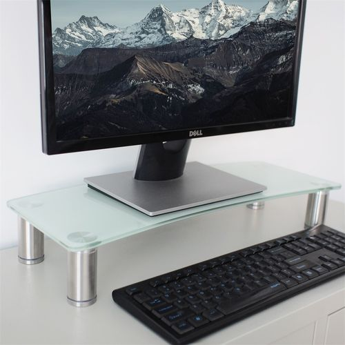 Monitor Riser Adjustable-White